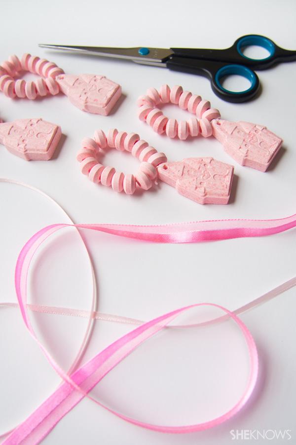 DIY Candy heart bra
