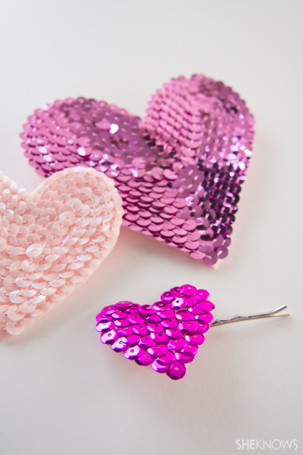 DIY Sequin heart accessories | SheKnows.com