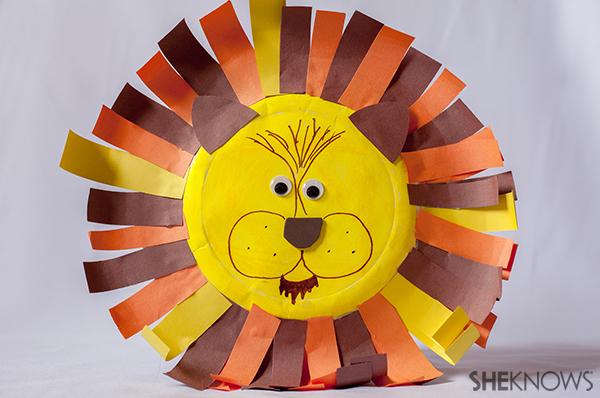 Paper Plate Lion Craft Pipeloop Com