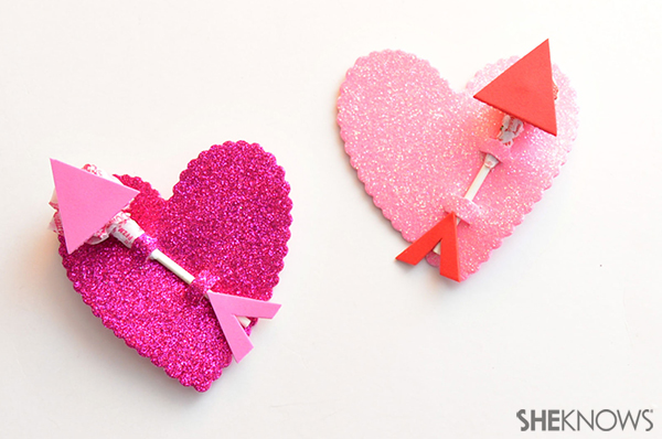 Cupid's arrow lollipop valentine | Sheknows.com