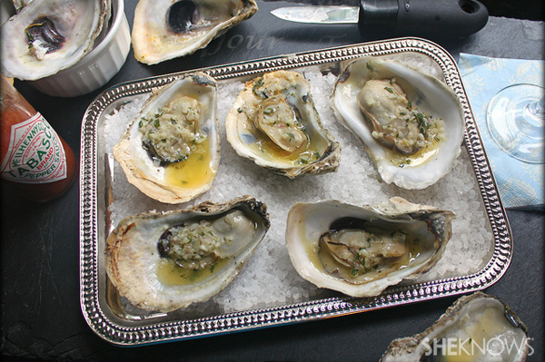 Easy grilled oysters with herbed garlic butter | Sheknows.com