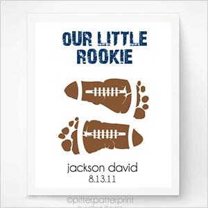 Baby footprint football art   Sheknows.com