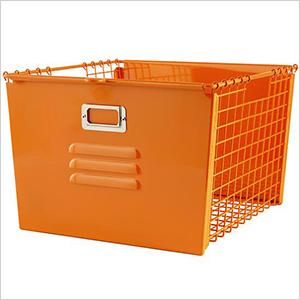 Orange metal locker basket   Sheknows.com