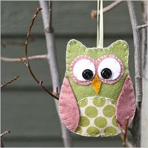 Felt and fabric ornament owl craft | Sheknows.com
