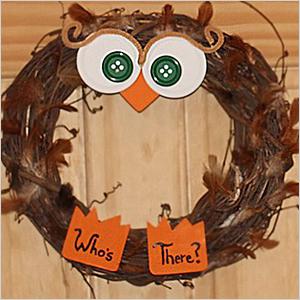 Wreath owl craft | Sheknows.com