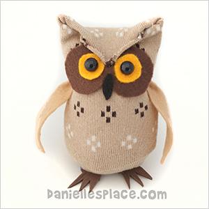 No-sew sock owl craft | Sheknows.com