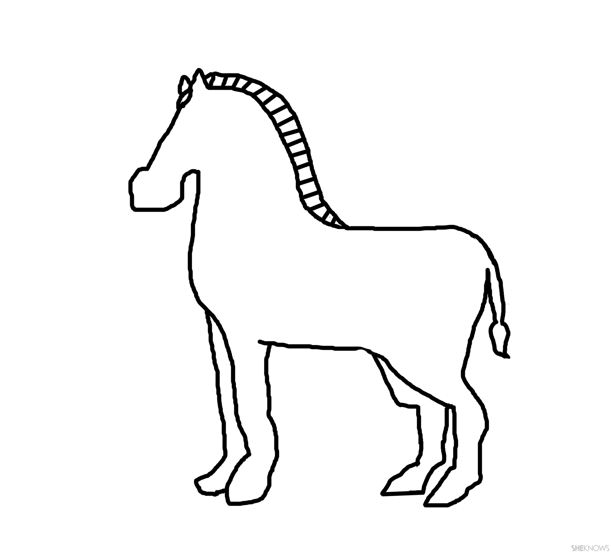 zebra coloring pages without stripes - photo #32