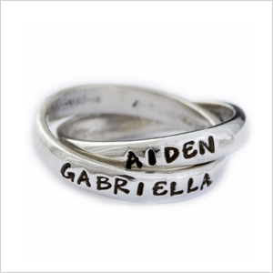 Nelle and lizzy double name ring | Sheknows.com