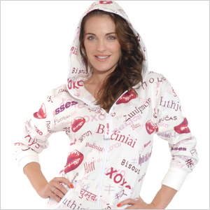 ZOOOP iT UP Classic Fleece XOXO Lips Onesie | Sheknows.com