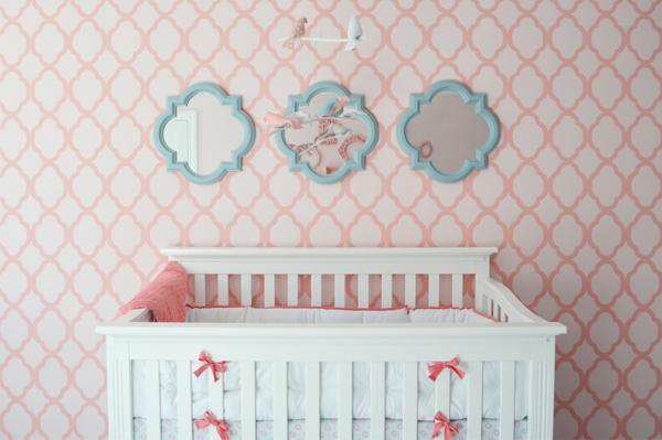 Geometric accent walls | PregnancyAndBaby.com