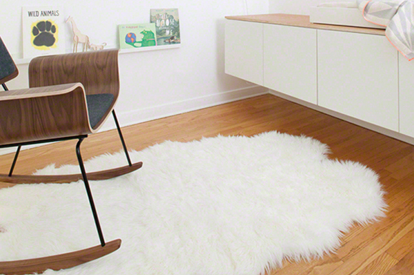 Sheepskin rug | PregnancyAndBaby.com