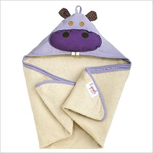 3 sprouts hippo purple towel | PregnancyAndBaby.com