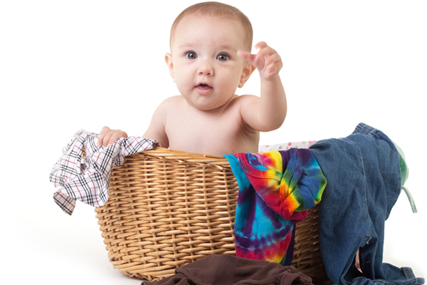 Baby in the laundry basket | PregnancyAndBaby.com