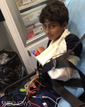 Boy with a severely broken arm | Sheknows.com