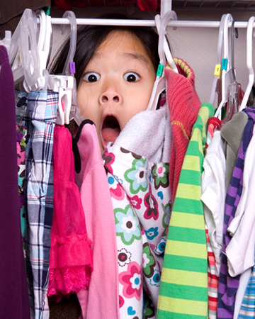 Clean up the closet clutter