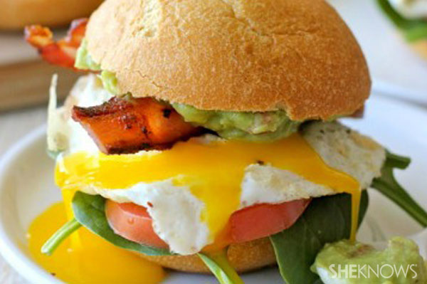 BLT with fried eggs and guacamole | Sheknows.com