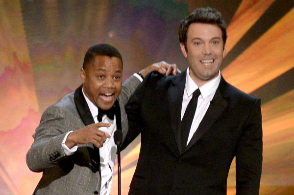 Cuba Gooding, Jr. and Ben Affleck at the 20th Annual SAG Awards