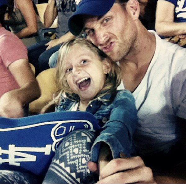 The Bachelor s Juan Pablo and his daughter Camila watch a gameJuan Pablo Daughter