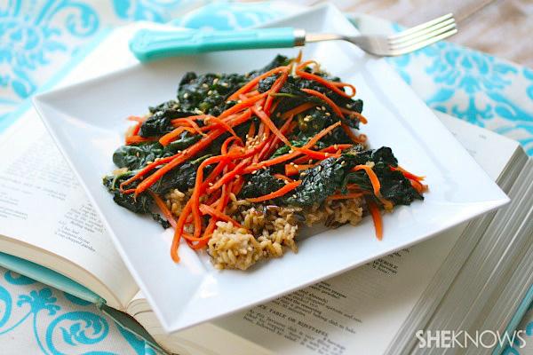 carrot kale stir-fry
