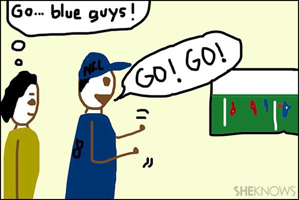 Super Bowl party etiquette - Crappy Pictures via SheKnows.com