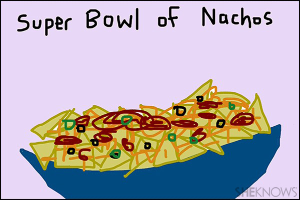 Super Bowl food - Crappy Pictures via SheKnows.com