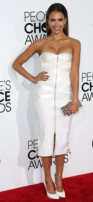 Jessica Alba best dressed at the 2014 People's Choice Awards