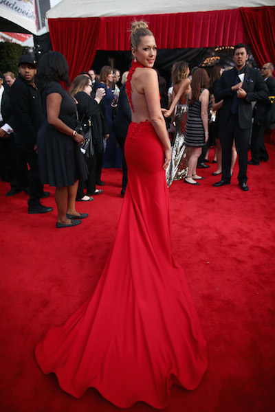 Colbie Caillat Wows In A Ravishing Red Dress At The Grammys