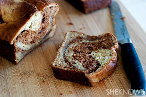 Chocolate peanut butter swirl bread