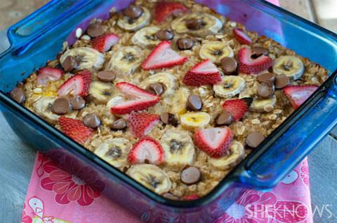 Gluten-free baked oatmeal casserole recipe