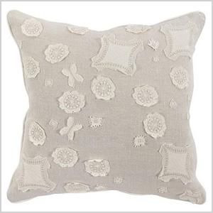 Cecil floral lace pillow