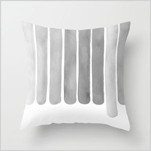 Ocean gray pillow