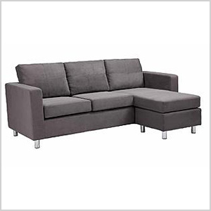 Dorel Asia small spaces sectional