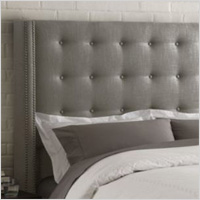 Upholstered button headboard