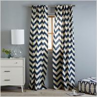 Cotton canvas zigzag curtain