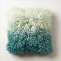 Ombre luxe fur pillow