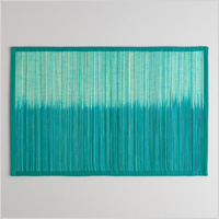 Set of 4 teal ombre placemats