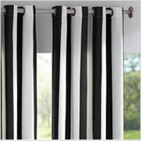 Black and white indoor/outdoor curtains