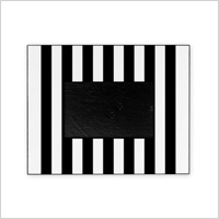 Black & white vertical striped picture frame
