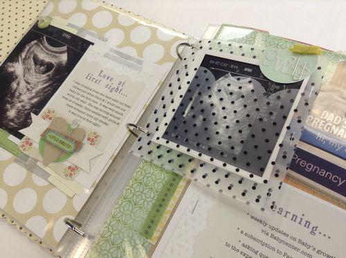 Pregnancy scrapbook