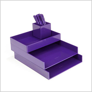 purple desktop set