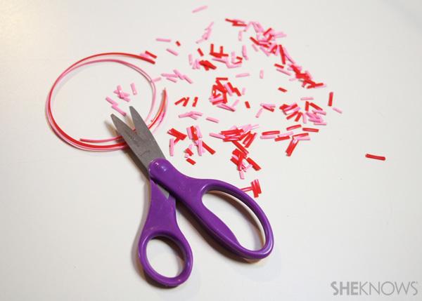 sugar cookie postcard for Valentine's Day: Step 3 Make Sprinkles