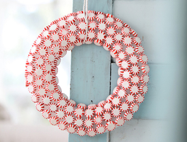 Mint candy wreath