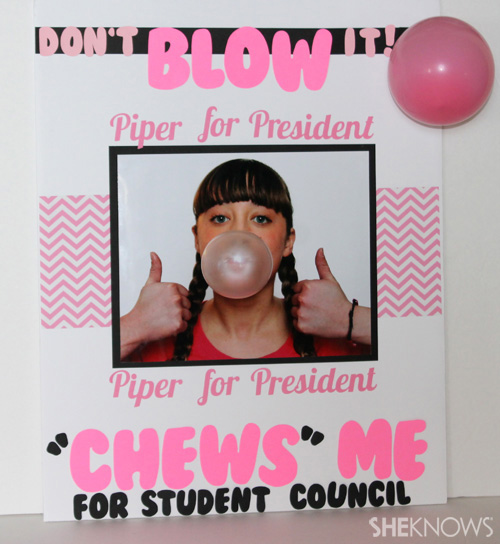 gum-themed student council poster