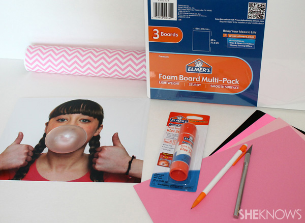Make this clever gum-themed student council board