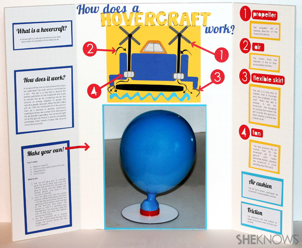 DIY fun and informative balloon hovercraft
