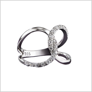 Sterling silver CZ infinity