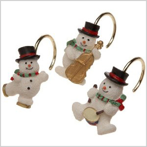 Snowman Shower Curtain Hooks