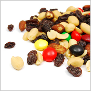Packaged trail mix
