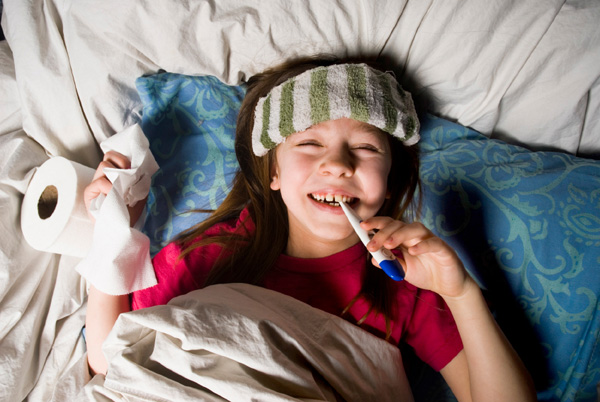 Avoid catching your child's cold or flu