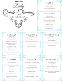Blue cleaning checklist